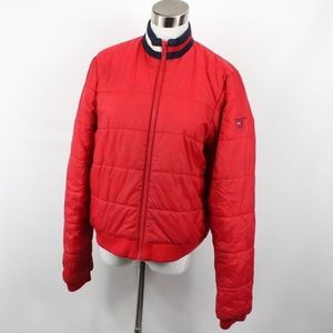 Vintage Tommy Hilfiger Spell Out Puffer Jacket L